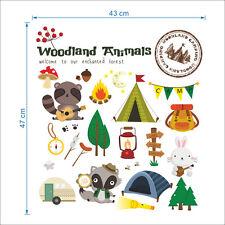 woodland animal baby nursery DIY wall Decals kids living room sticker43x47cm
