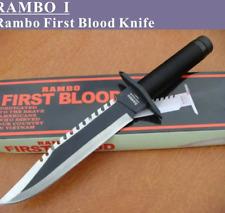 Coltello RAMBO 1 kit Sopravvivenza Lama Fissa ACCIAIO INOX  I Militare Caccia