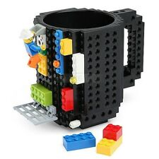 DIY Creative Lego Brick Mug Building Blocks Coffee Cup Block Puzzle Mug 350ml
