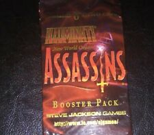 New Illuminati New World Order Assassins booster 1 pack, sealed 8 inwo cards