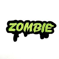Zombie Undead Monster Halloween Emblem Decorate Rock Punk Clothes Iron on patch
