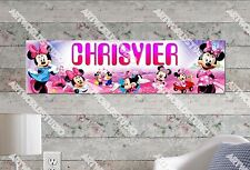 Personalized/Customized Minnie Mouse Name Poster Wall Art Decoration Banner