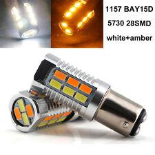 10Pcs P21W 1157 BAY15D 22SMD 5730 LED Dual-Color Switchback Backup Reverse Light