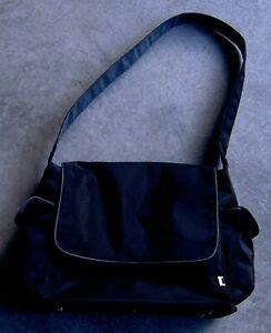 OiOi Nappy Bag Messenger - BLACK/GREY