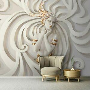 Vlies Fototapete 3D EFFEKT MARMOR Abstrakt Kunst Medusa Ornament Frau MODERN 84