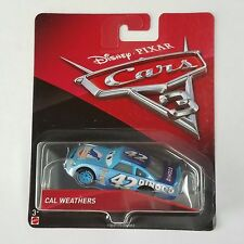 Disney Pixar Cars 3 Cal Weathers #42 Dinoco Racing Diecast Mattel 1:55 Scale New