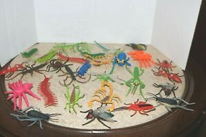 Pretend play large lot of plastic bugs flies spiders grasshoppers scorpions