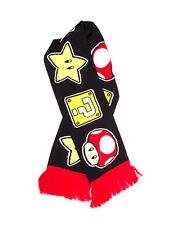 SUPER MARIO BRO'S QUESTION MARK BLOCK, SUPER STAR & POWER UP MUSHROOM SCARF *NEW