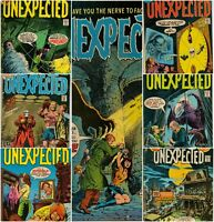 Lot Of 7 THE UNEXPECTED 180 181 184 185 187 188 189 DC Bronze Age Horror Comic