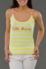 NWT Authentic LITTLE MARCEL White Yellow Striped Cotton T-Shirt Tank Top M