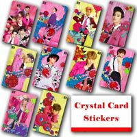 10pcs/set Kpop NCT 127 Collective Photo Card Crystal Card Sticker
