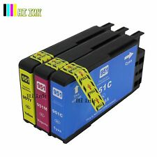 3PACK 951XL Color ink for HP 950XL 951XL OfficeJet Pro 8100 8600 8610 8620 8630