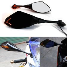 Motorcycle LED Turn Signal View Mirrors  For 2011 2013 Honda CBR250R CBR 600 RR
