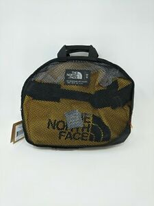 Unisex The North Face Base Camp Duffel Bag, Size OS - Black/Yellow