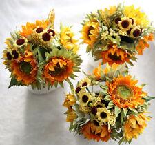 1 Bunch Beauty Fake Sunflower Artificial Silk Flower Bouquet Home Floral Decor