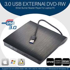 2018 Ultra Slim Portable USB 3.0 External DVD RW CD Drive Burner Reader Player