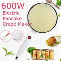 3Pcs Electric Pan Maker Griddle Pancake Crepe Pizza Home Kitchen AC220V 600W