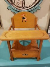 Vintage Oak Hill Collapsible Wooden Potty Chair
