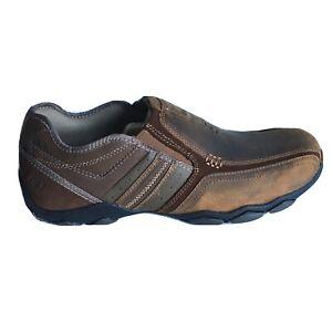SKECHERS Mens 10.5 M Diameter Zinroy Slip On Loafer Dark Brown Medium 1/2 NEW