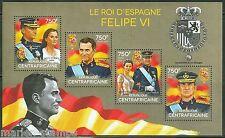 CENTRAL AFRICA  2014 FELIPE VI,  KING OF SPAIN  SHEET MINT NH