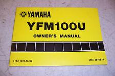 YAMAHA YFM100 OWNERS MANUAL YFM 100 U LIT-11626-06-39 jh