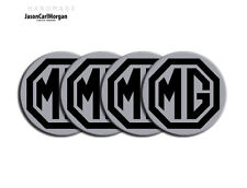 MGF MG TF Wheel Centre Cap Logo Badges Hub Caps Emblem Badge Black Silver 55mm