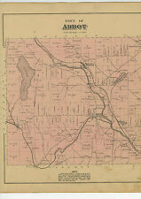 1882 Map of Abbot, Maine, from Atlas of Piscatquis County w/family names