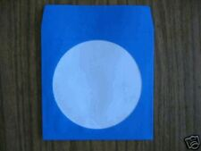 1000  BLUE CD PAPER SLEEVES w/ WINDOW & FLAP -  JS205