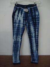NWT Womens Hue Skinny Jeanz Bleached Leggings Size XS Navy Denim #239A