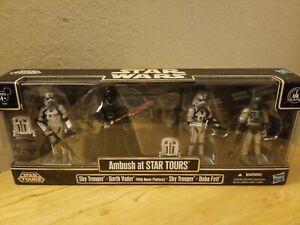 Hasbro Star Wars AMBUSH AT STAR TOURS Set SKY TROOPER DARTH VADER BOBA FETT