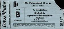 Ticket BL 90/91 SG Wattenscheid 09 - Hamburger SV