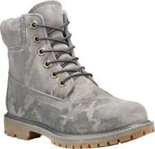 Timberland 6in Premium Suede WP Boot Multi-grey Camo Suede 7 Wide