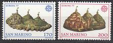 San MARINO N. 1131-1132 ** EUROPA 1977/PAESAGGI
