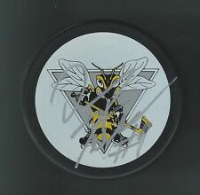 Danny Fritsche Signed Sarnia Sting Puck Columbus Blue Jackets