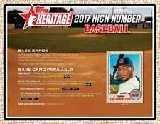 2017 Topps Heritage High Number Complete Master Set 285 Cards Bellinger Judge