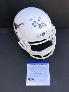 Keaontay Ingram Signed Autographed Texas Longhorns Mini Helmet Hook Em Psa/Dna