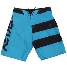 Oakley MTB Cycling Shorts Size 34 L Blue Black Mens Bike Riding Padded Short