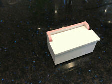 Miniature Doll house Size 1:12 White Wood Chest - Toy chest or Linen Chest