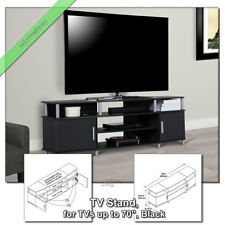 """70"""" TV Stand Media Console Table Carson Television Stands for Flat Screens,Black"""