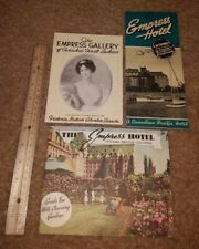 Vintage 1940s? Canadian Pacific Empress Hotel Brochures and Receipt