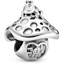 Genuine Pandora Silver Mushroom & Frog Charm Fairytale 798558C00 NEW! S925 ALE