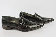 Van Dal crocodile marron chaussures vernies taille 6 1/2-afficher le titre d'origine