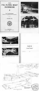 Naval Factory F-5L Felixstowe F5 Flying Boat manual 1918 historic period archive