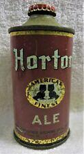 can Horton America's Finest Ale w/cap 12 ozUsbc 169-13 1940 New York Irtp cone