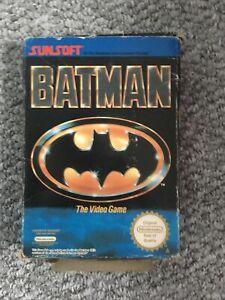 Batman Nes Game damaged box no instructions
