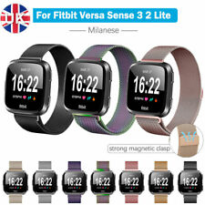 For Fitbit Versa 3/Sense 2 1 Lite Strap Milanese Stainless Magnetic Watch Band