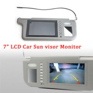 "7"" Sunvisor Rear View Mirror Screen Lcd Monitor DVD/VCD/GPS/TV Sun Visor Solid"