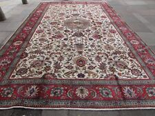 Old Hand Made Traditional Vintage Oriental Wool White Large Carpet 480x303cm