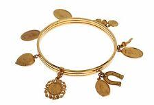 NEW DOLCE & GABBANA Bracelet Gold Brass Maria Sicily Chilli Charm Bangle Cuff