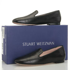 Stuart Weitzman Myguy Black Leather Smoking Loafer Flats - Women's 5 M